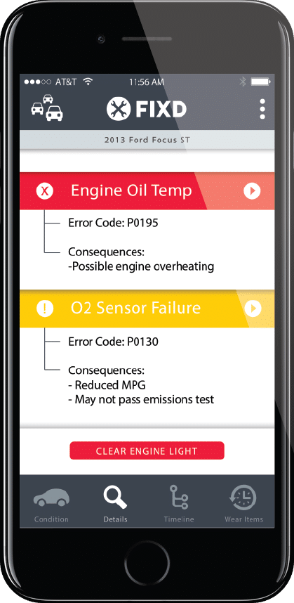 Check engine light code reader