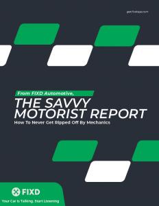 The Savvy Motorist Report