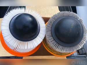 Clean and dirty engine air filters