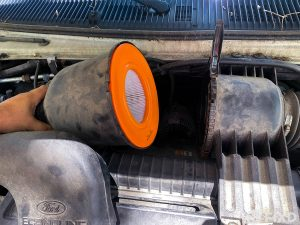Remove engine air filter