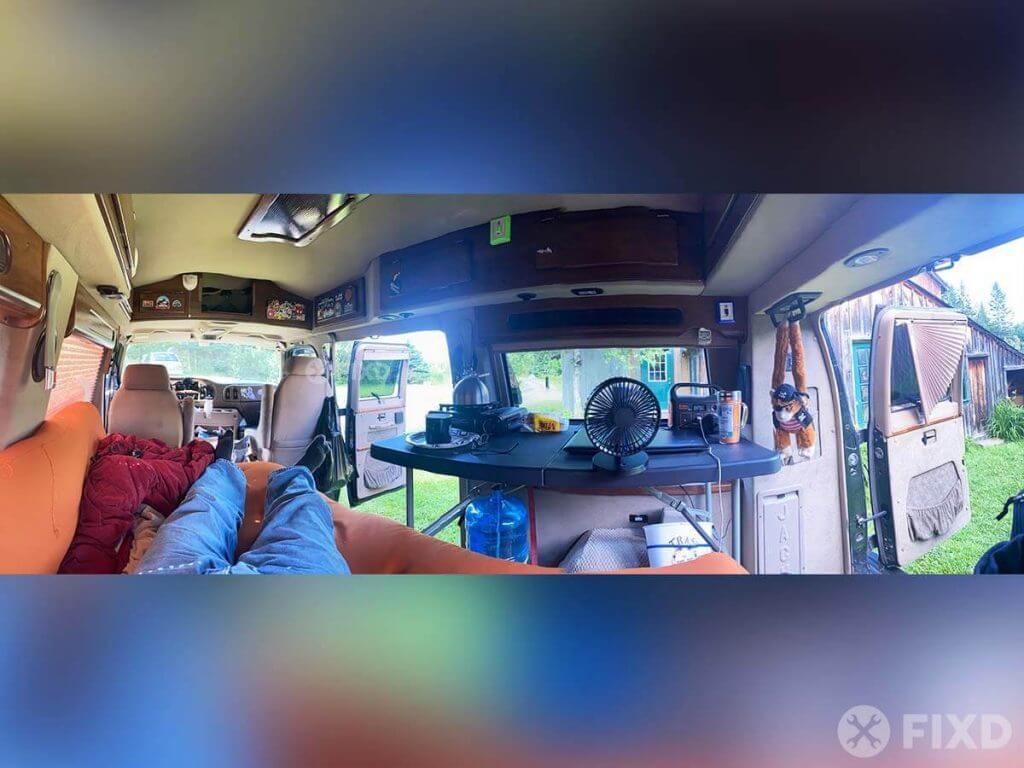 Inside the no-build van build