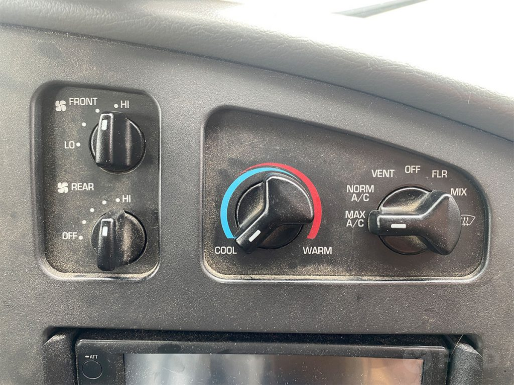 Air conditioner set to max
