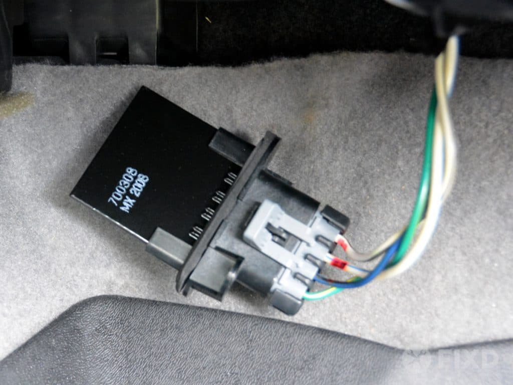 remove blower motor resistor to replace it