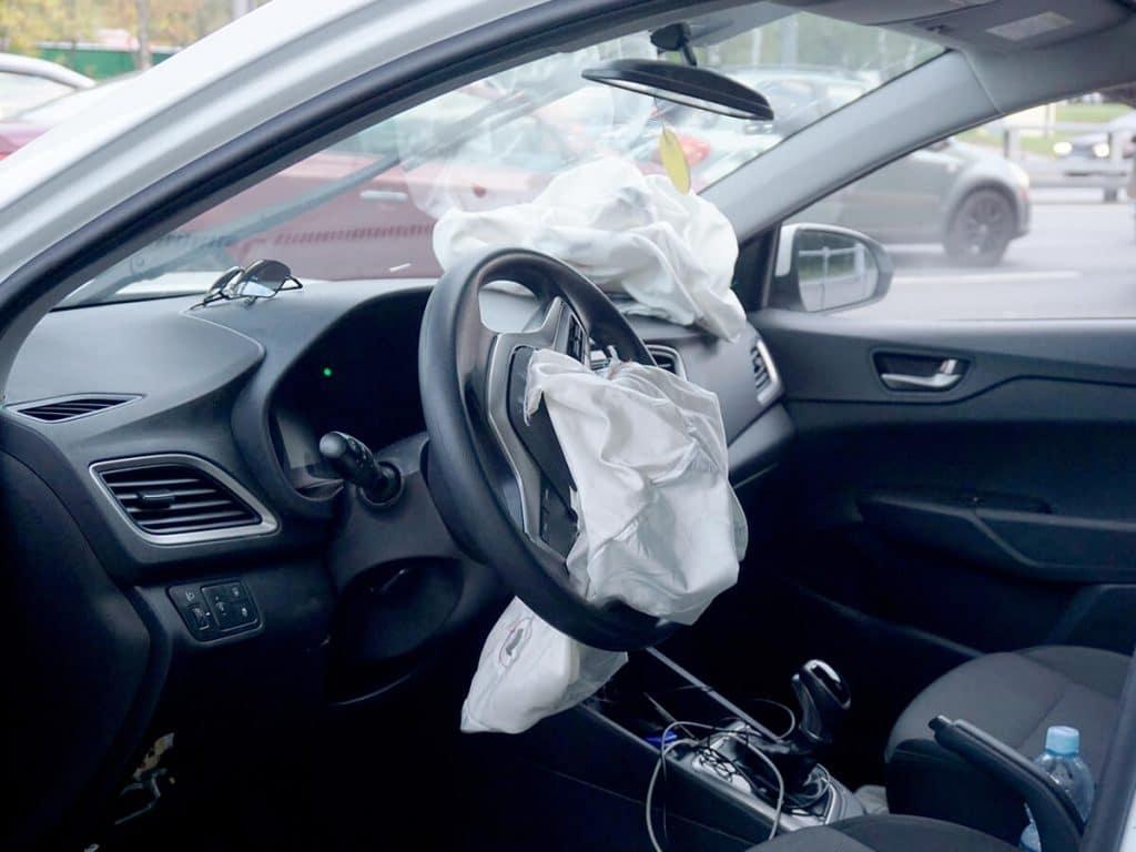 Blown airbag