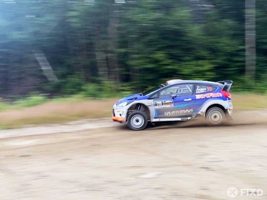 David Higgins at the New England Forest Rally