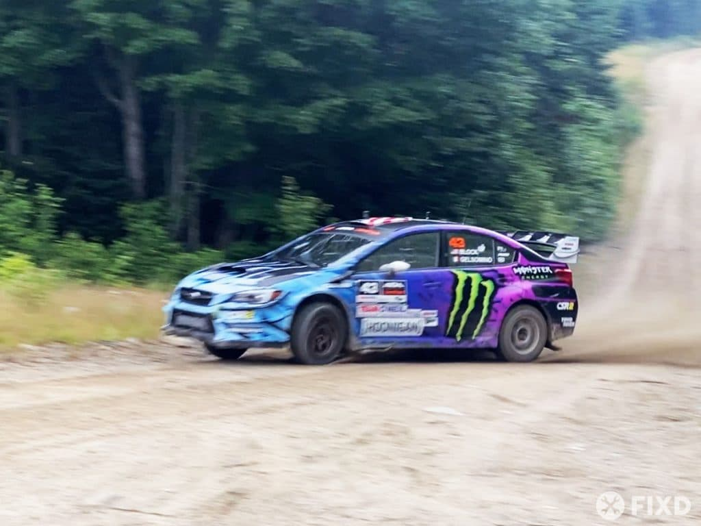 Ken Block at the New England Forest Rally