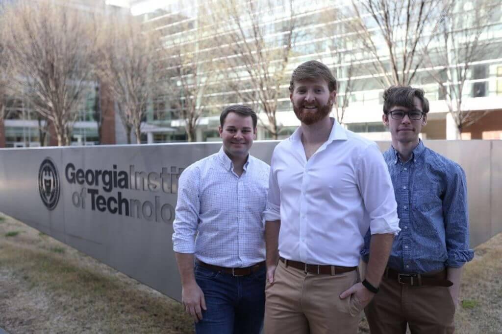 Founders of FIXD standing in Georgia Tech Square Atlanta Georgia