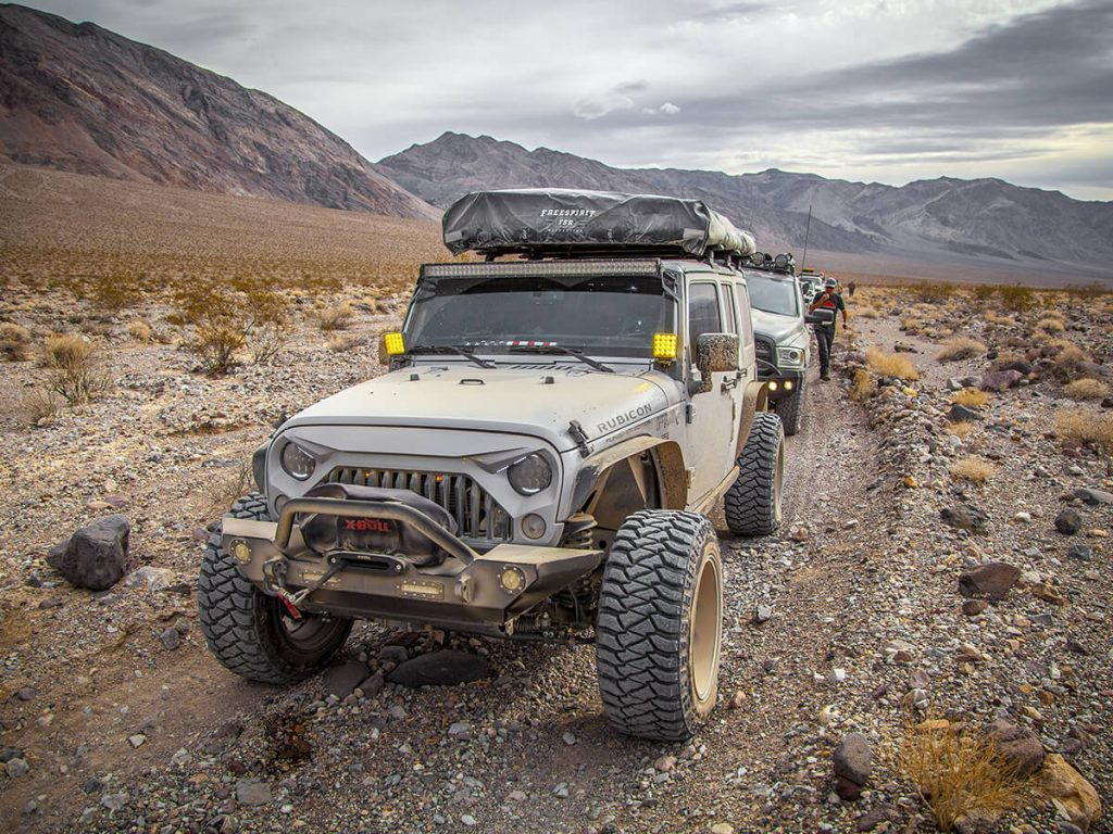 Jeep Wrangler with angry grille