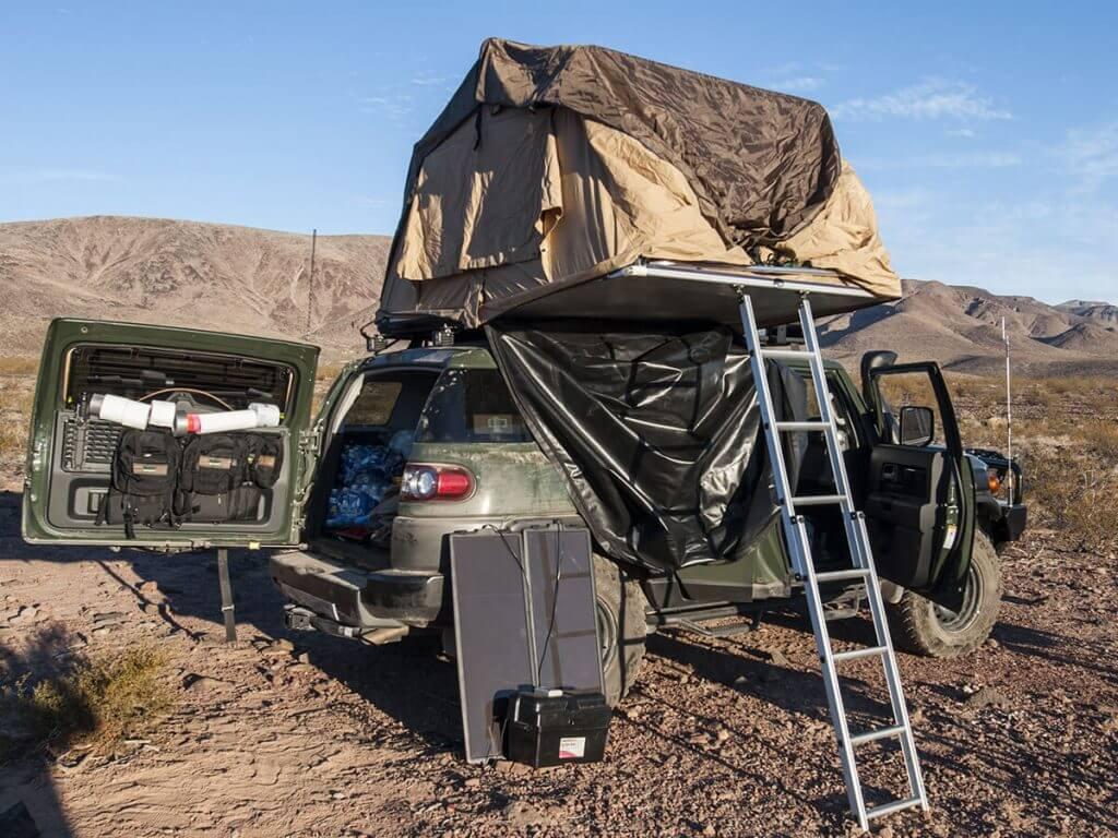 Toyota FJ Cruiser set up for overlanding
