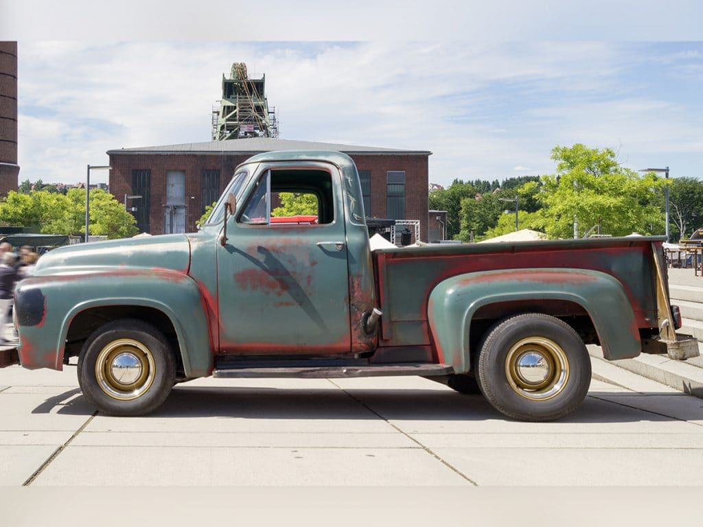 classic truck with patina