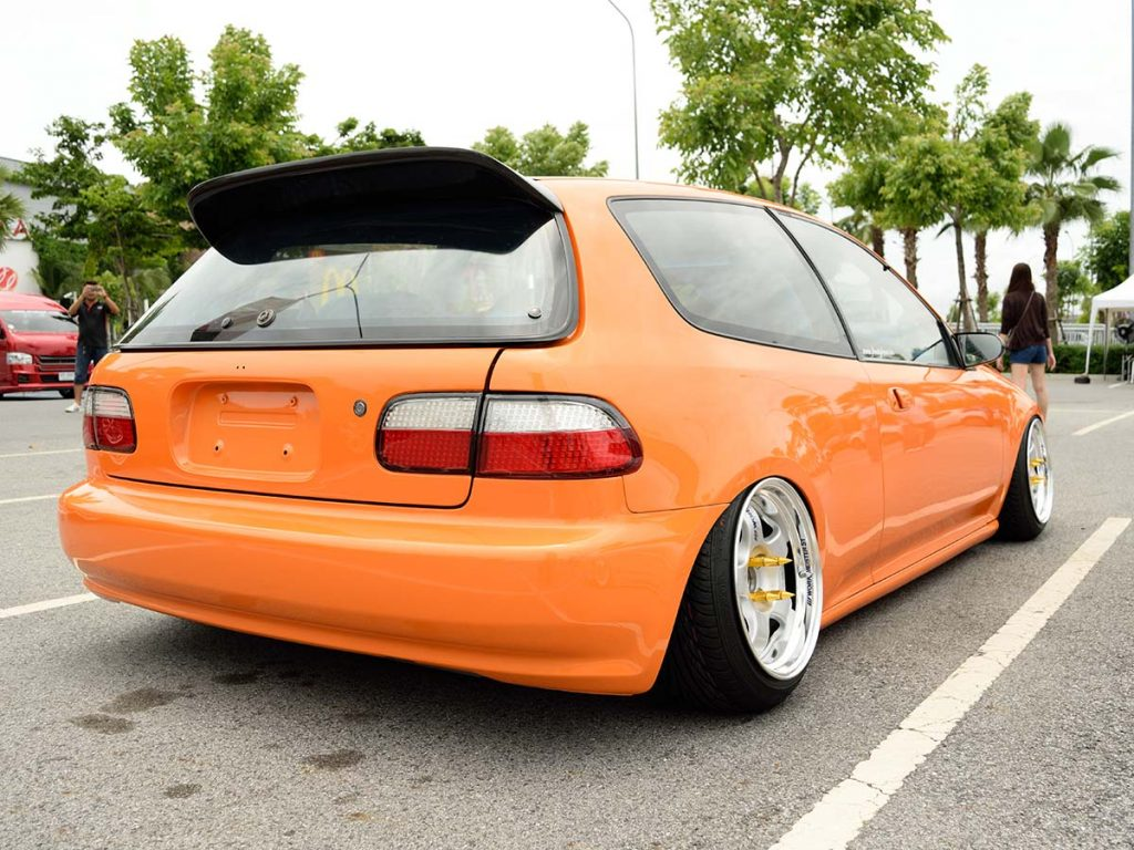 custom car with stance