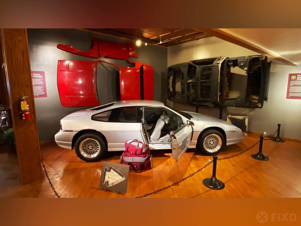 The Pontiac Fiero display